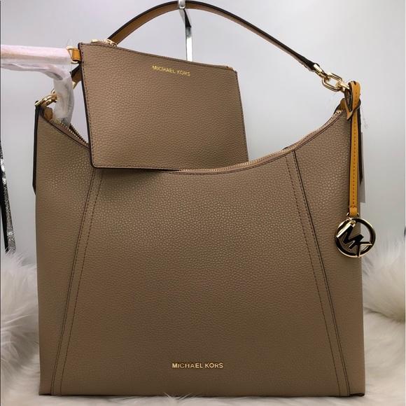 12db2805c183 Michael Kors Kimberly Studded LG shoulder bag